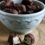 Chocolate Covered Chocolate Chip Yogurt bites Made with Silk Yogurt Alternative @LoveMySilk #SpoonfulOfSilk #dairyfree #vegan