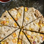 Peaches and Cream Whole Wheat Scones from Lauren Kelly Nutrition