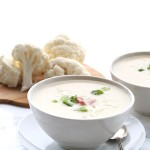 Low Carb Slow Cooker Ham and Cheese Cauliflower Soup