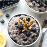 Blueberry Chia Oatmeal {5 ingredients, Gluten-Free, Dairy-Free}