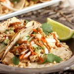 Thai Chicken Tacos with Spicy Peanut Sauce from The Suburban Soapbox