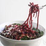 Spiralized Beet Quinoa Salad {Gluten-Free, Vegetarian}